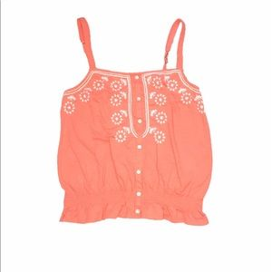 American Eagle Outfitters CoralPink Lace CropTop